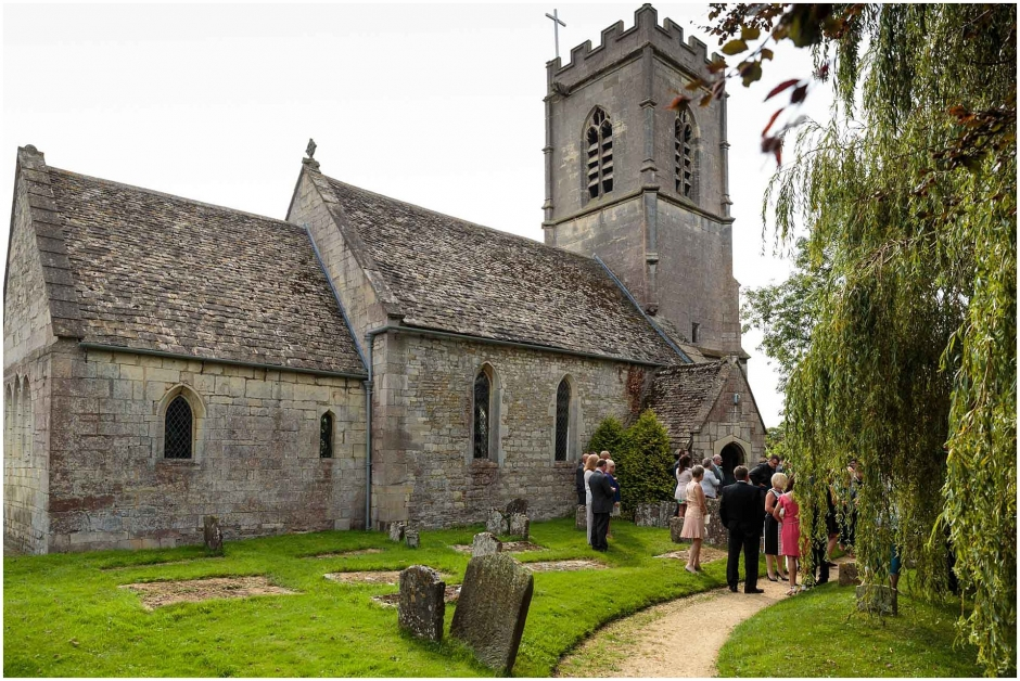 St Margaret's Church Wedding, Whaddon Gloucestershire