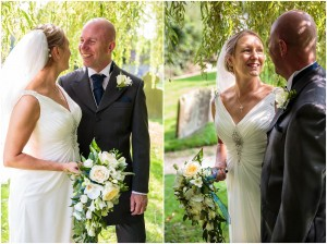St Margaret's Church Wedding, Whaddon Gloucestershire, willow tree wedding photos