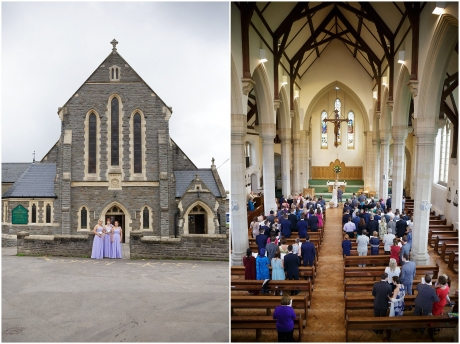 St. Bonaventure's Church Bristol Wedding Photography - Church Exterior and Inside