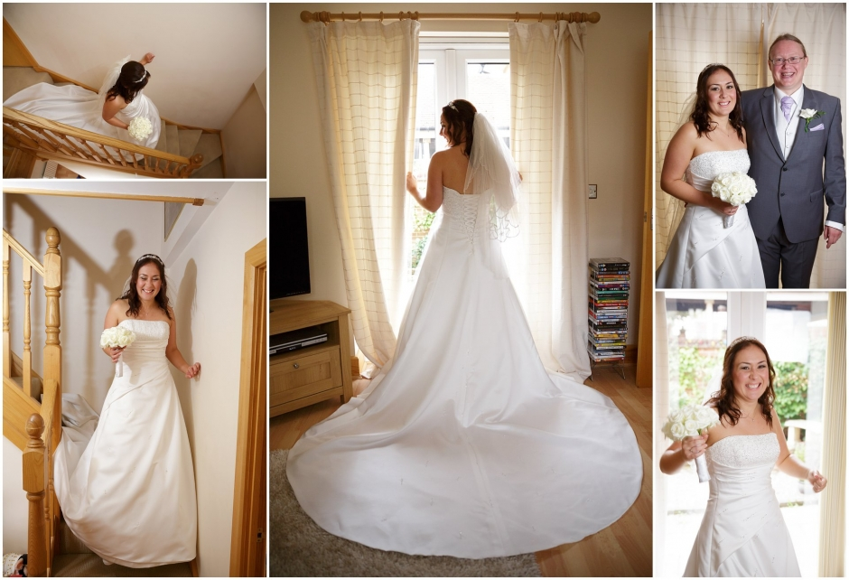 Bridal Portraits before Wedding at St. Bonaventure's Church Bristol