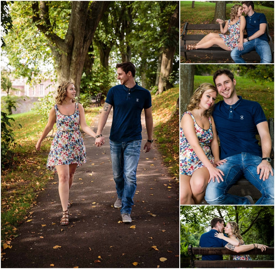 Brandon Hill Engagement Shoot Walking through the tall trees
